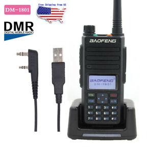 Baofeng DM-1801 DMR Digital Radio Dual Band Tier 1+2 Dual Time Slot + USB Cable