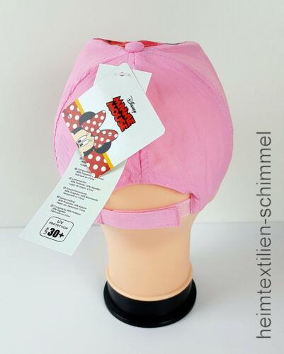 Disney Cap Casquette Capuchon Basecap Baseballcap chapeau de chapeau UV 30 Minnie Mouse