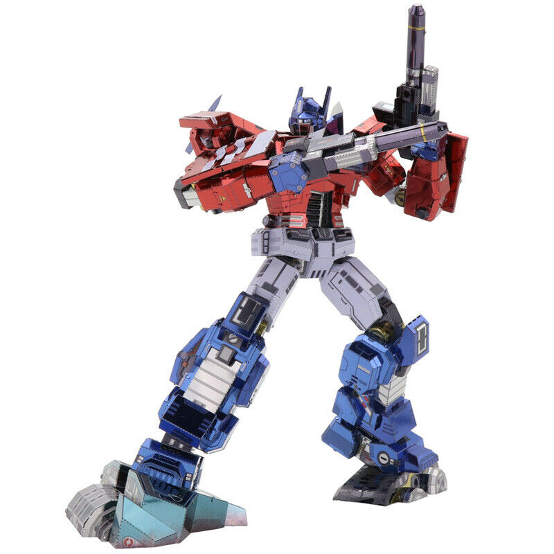 MU Transformers Optimus Prime IDW 3D Metal Puzzle DIY Assemble Model Kits Toys