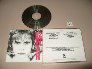 U2-War-cd-1983-Early-Press-cd-is-Ex-Nr-Mint-Inlays-are-Excellent-CID-112