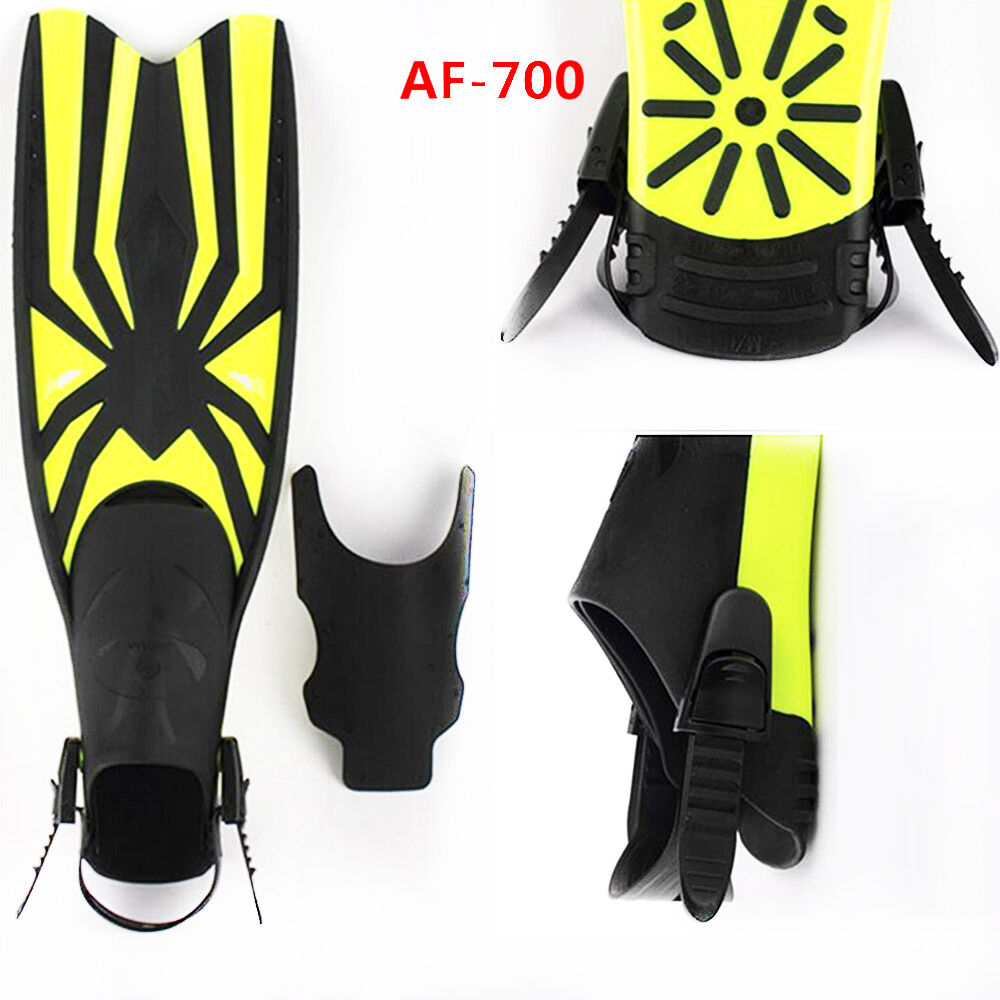 Regolabile Pinne Allenamento lungo Flippers Mermaid Scuba Diving Nuoto