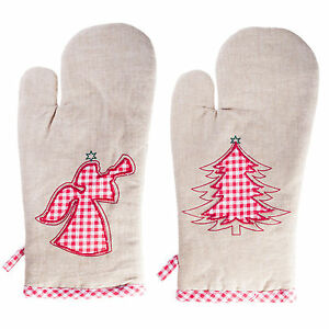 Merry-Christmas-Kitchen-Household-Serving-Oven-Glove-Mitt-Angel-or-Tree