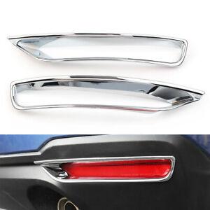 For Subaru forester 2013-2018 ABS Chrome rear fog light lamp cover trim 2pcs cl