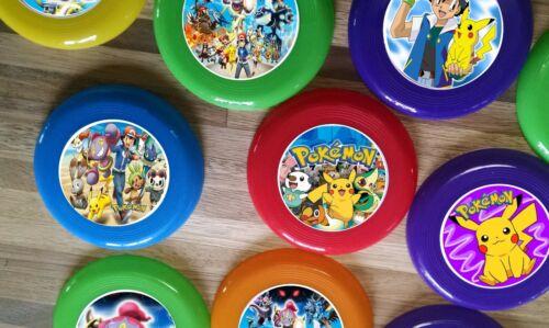 12 POKEMON GO mini frisbees birthday party favor FOR treat bags prizes LOOT