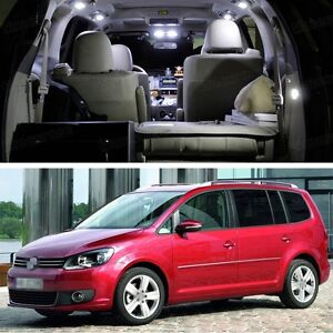 9Pcs SMD LED White Light Interior Package Deal for Volkswagen Touran ...