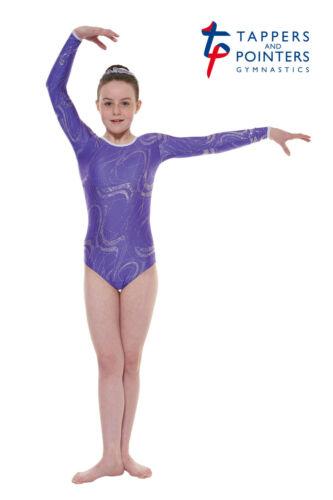 GYM//36 Gymnastic long sleeved leotard in Purple nylon lycra