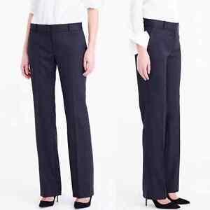 J.Crew Woman's Super 120s Wool Pants Size 6 Black Career Wear