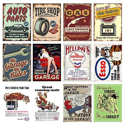Motor Garage Retro Metal Signs//Plaques Man Cave,Novelty Gift Garage 4