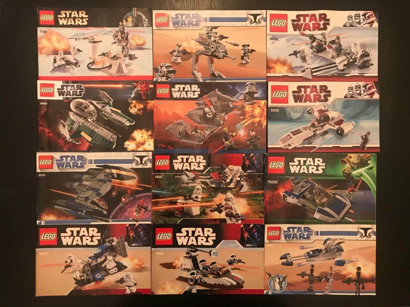 LEGO Star Wars Instruction Manual LOT 8016 9494 7957 7670 8018 8128 7669 & More