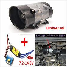 Car Electric Turbine Power Turbocharger Tan Air Intake Fan 12V 16.5A Bold Lines