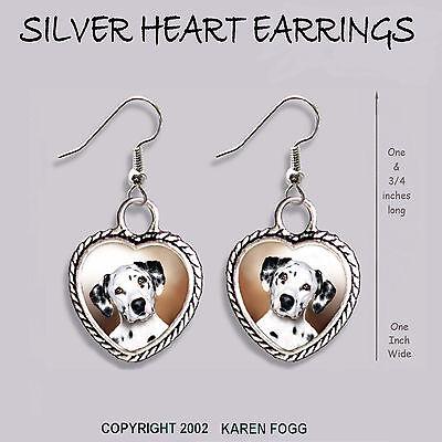 GERMAN SHORTHAIR POINTER DOG HEART EARRINGS Ornate Tibetan Silver JEWELRY
