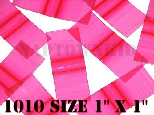 "500 Red Plastic Ziplock Coin Parts Baggies 1/"" X 1/"" Size 1010 Ziploc Closure"