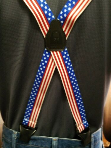SureKlip Suspenders 14 Design Prints TSA FRIENDLY Heavy Duty Composite Clips