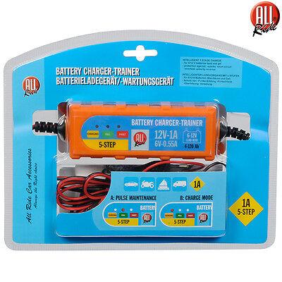 Caricabatterie Mantenitore Batteria Auto Moto Portatile +Cavetti 6V 12V All Ride