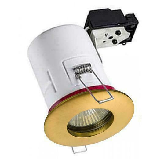 4 X White Fire Rated Ip65 Bathroom Shower Downlight ...