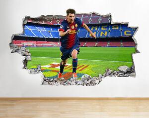 H963-Messi-FC-Barcelona-Ninos-SMASHED-pegatina-pared-vinilo-3d-habitacion-ninos