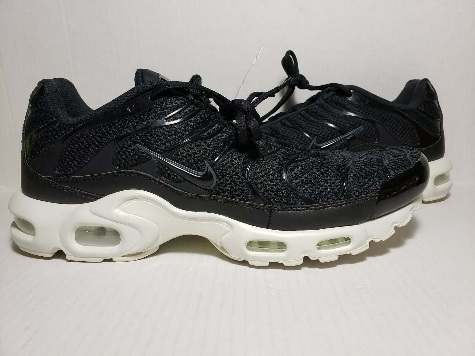 Nike Air Max Plus BR TN Tuned Running shoes Black Summit White 898014-001 sz 13