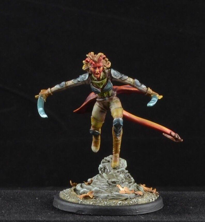 Pintado demonkin Guerrero de Dark Sword Miniatures carácter demonio Hembra 28mm
