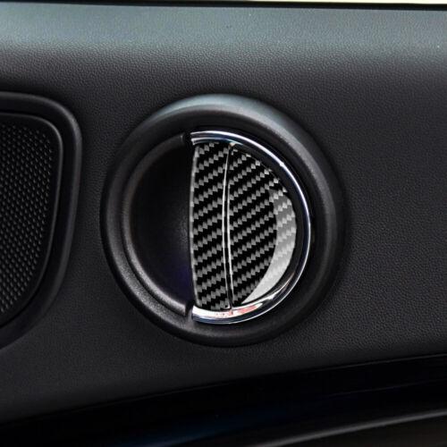 4 X for Mini Cooper F55 F54 F60 Car Interior Carbon Fiber Door Handle Cover Trim