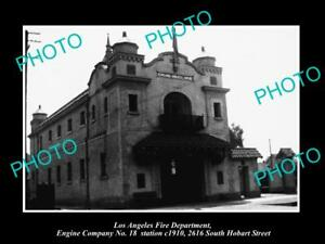 OLD-HISTORIC-PHOTO-OF-LOS-ANGELES-FIRE-DEPARTMENT-THE-No-18-ENGINE-STATION-1910