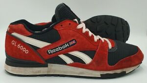 Reebok GL 6000 Athletic Daim Baskets M45927 rouge Rush/Noir UK11/US12/EU45.5