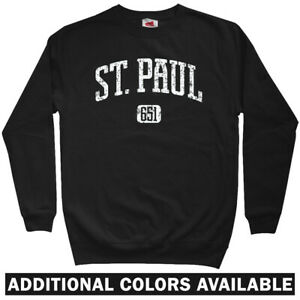 detailed look b3143 b6a06 Details about St Paul 651 Sweatshirt Crewneck - MSP Minneapolis MN  Minnesota Twins - Men S-3XL