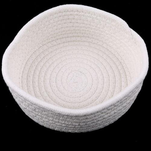 Small Round Cotton Rope Basket Bathroom Solution Storage Tidy Caddy Basket SI
