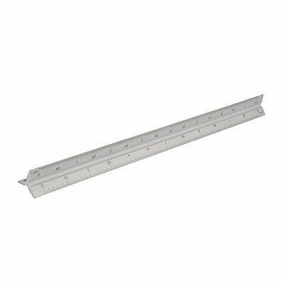 Silverline 300mm Tri Scale Aluminium Metal Ruler - 731001