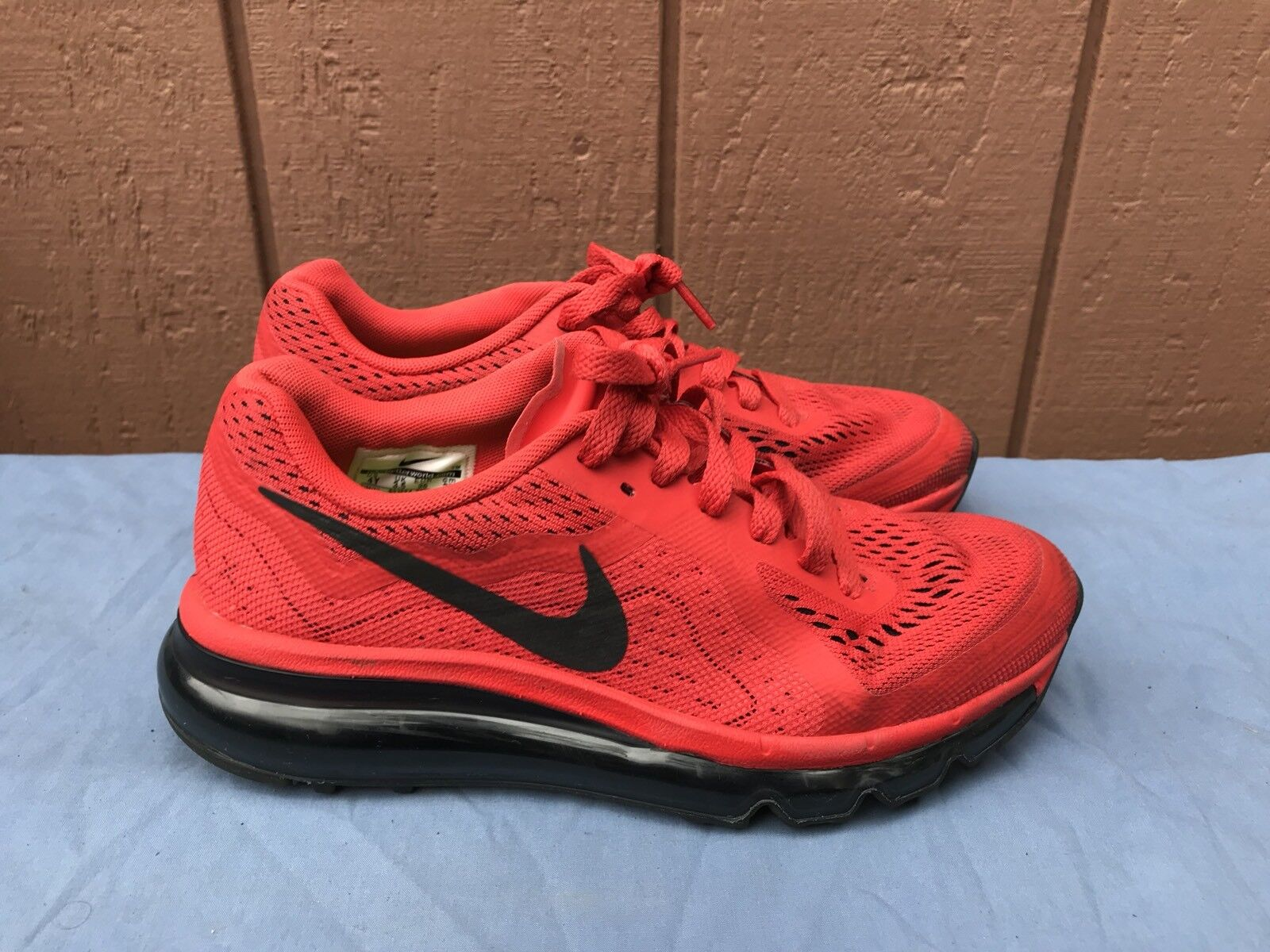 Nike Air Max Red Running Shoes Women's US 5.5 Girls US 4Y A5