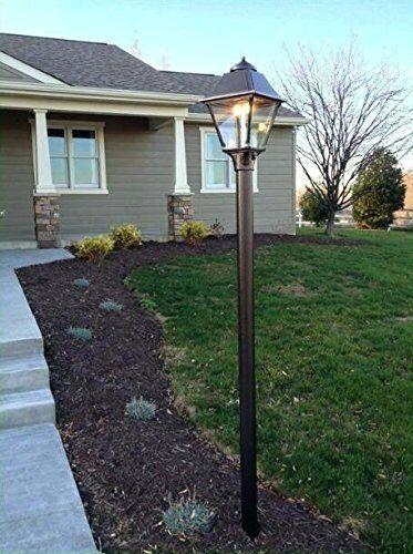 Outdoor Lamp Post With Fibergl Light