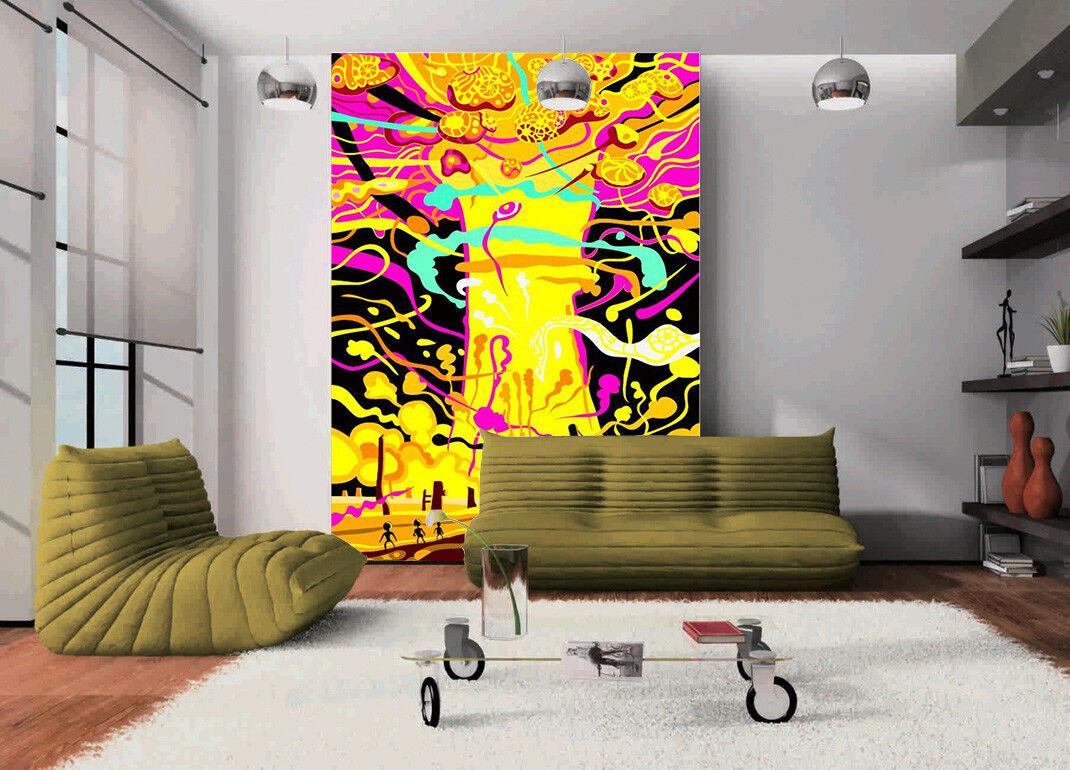3D Graffiti colord Tree 27 Wallpaper Mural Paper Wall Print Wallpaper Murals UK