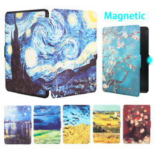 For Amazon Kindle Paperwhite 1234 Leather Case Magnetic Auto Sleep Wake Cover