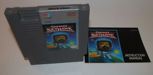 Captain-Skyhawk-Nintendo-NES-Game-with-Instruction-Manual-Booklet-Book-OEM