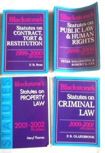 4-x-law-books-by-Blackstones-criminal-property-human-rights-contract-tort-law