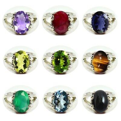 Gemsonclick Original Birthstone Amethsyt /& Topaz Ring Sterling Silver Handcrafted for Gift Sizes 4 to 13