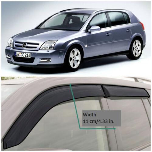 OE13603 Window Visors Sun Guard Vent Wide Deflectors For Opel Signum 2003-2008