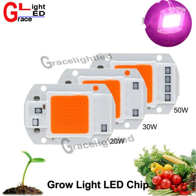220V 110VAC 20/30/50W Full Spectrum LED COB Chip Grow Light Plant Growth Lamp