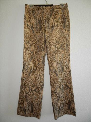 New Women/'s Express Editor Tan Paisley Pants Sizes 2 and 4 NWT