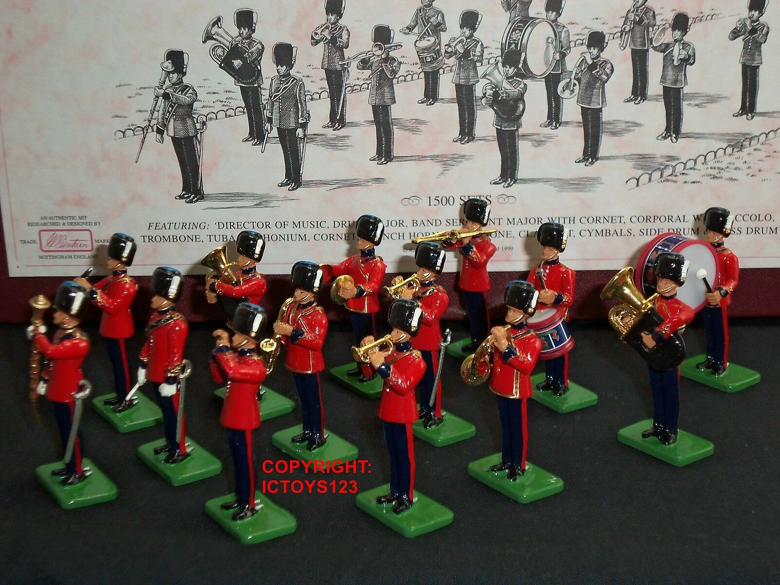 BRITAINS 00260 ROYAL ENGINEERS BAND LIMITED EDITION METAL TOY SOLDIER FIGURE SET
