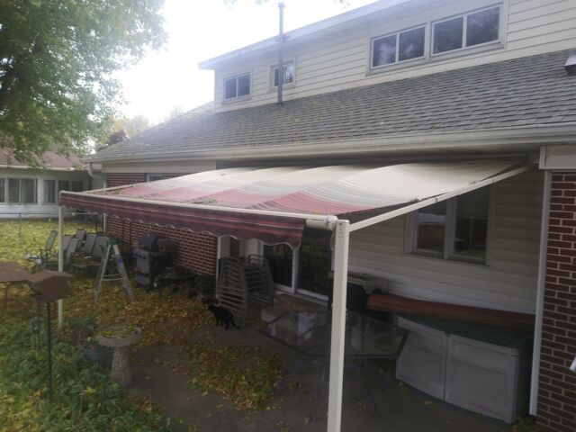 18x10 Manual Retractable Awning By Sunsetter Vista Model For Deck Patio Shade For Sale Online Ebay