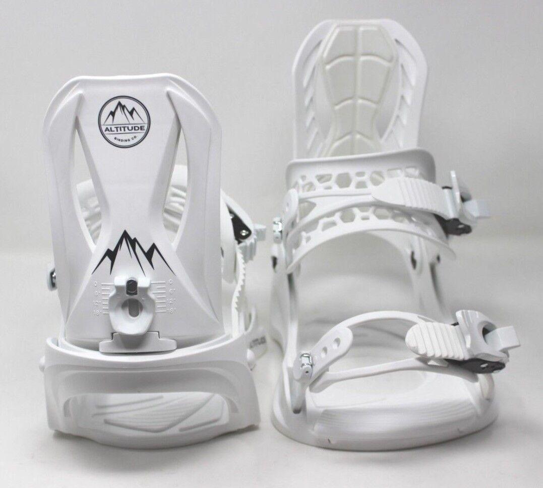 ALTITUDE Women's 4X4 Burton Mounting 3D EST Snowboard Bindings White L XL 9.5+
