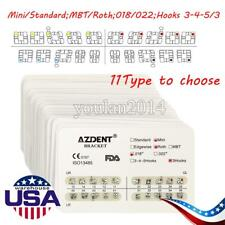 10set Ortodoncia Dental Bracket Mesh Base Braces 018 022 Mini Standard 11type