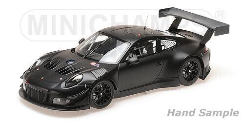 Minichamps-porsche 911 gt3 r plainbody version matt black l.e. 300 pcs 1 18