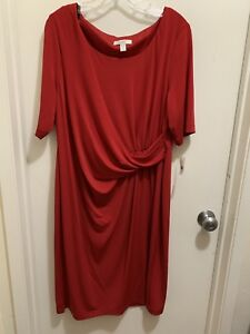 Details about Dress Barn plus size red formal dress NWT