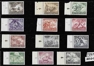 #7257 MNH Third Reich Germany stamp set 1943 Military Hero's Wehrmacht Luftwaffe