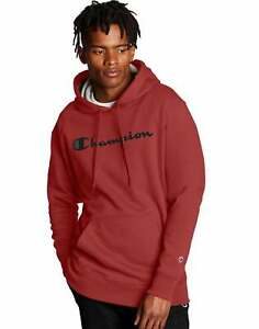 Champion-Men-039-s-Athletics-Powerblend-Hoodie-Script-Logo