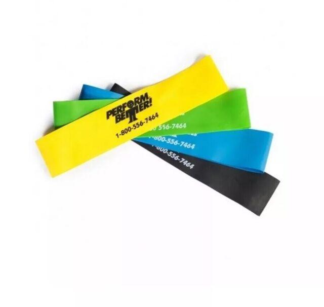 Perform Better Professional Light Exercise Mini XL Band Black 10 Pack