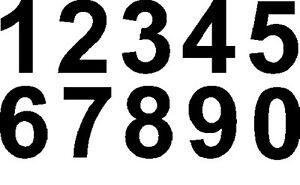 """CARACTERE IMMATRICULATION PNEUMATIQUE NOIR """"5"""" HAUTEUR 18 CM - ENVOI SOUS 24 H"""
