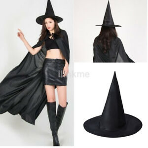 Details About Diy Fashion Adult Womens Black Witch Hat For Halloween Costume Party Accessory C