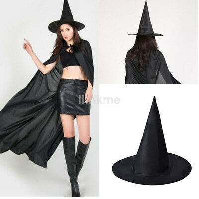 """36/"""" Extra Long Black Witch Adult Costume Women/'s Wig Scary Halloween Accessory"""